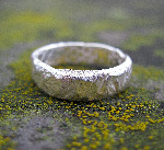 7mm Sterling Silver Rocky Outcrop Ring