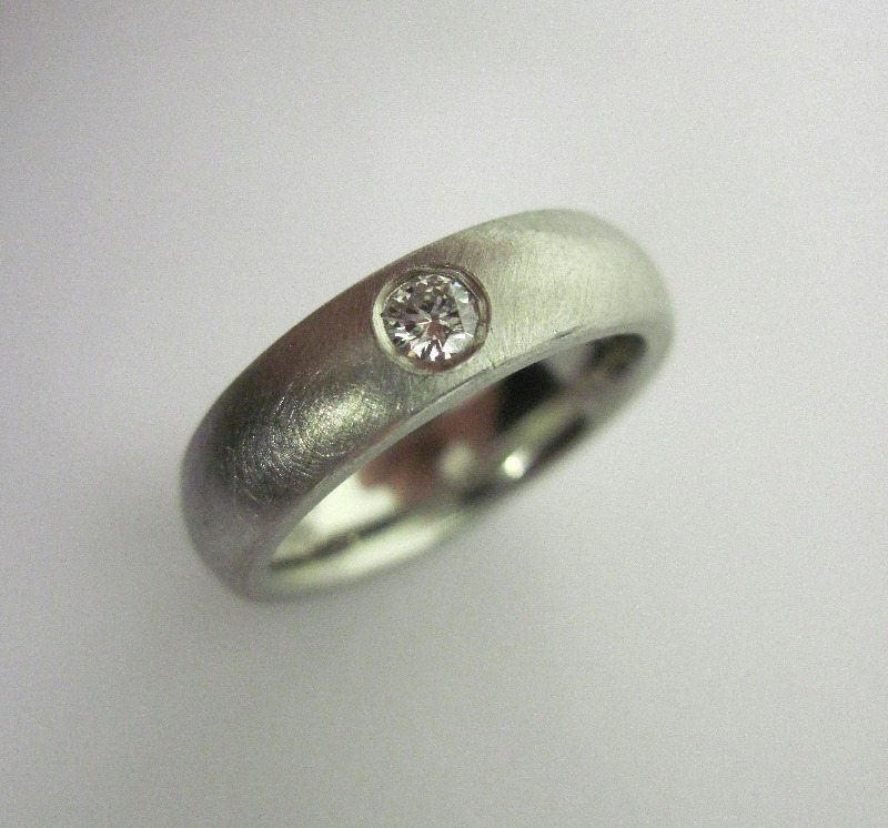 palladium and diamond ring