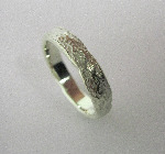 5mm Wide Gold Rustic Organic Band