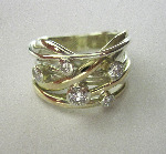 Large Diamond Squiggle Ring