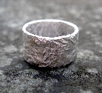 11mm Sterling Silver Rocky Outcrop Wide Ring