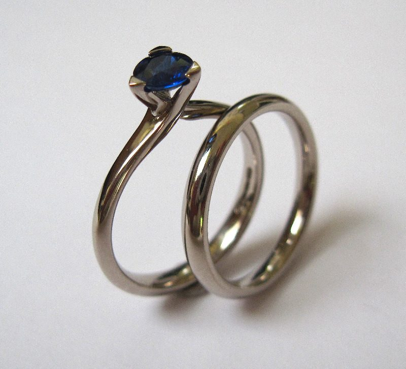 sapphire and wedding band 2