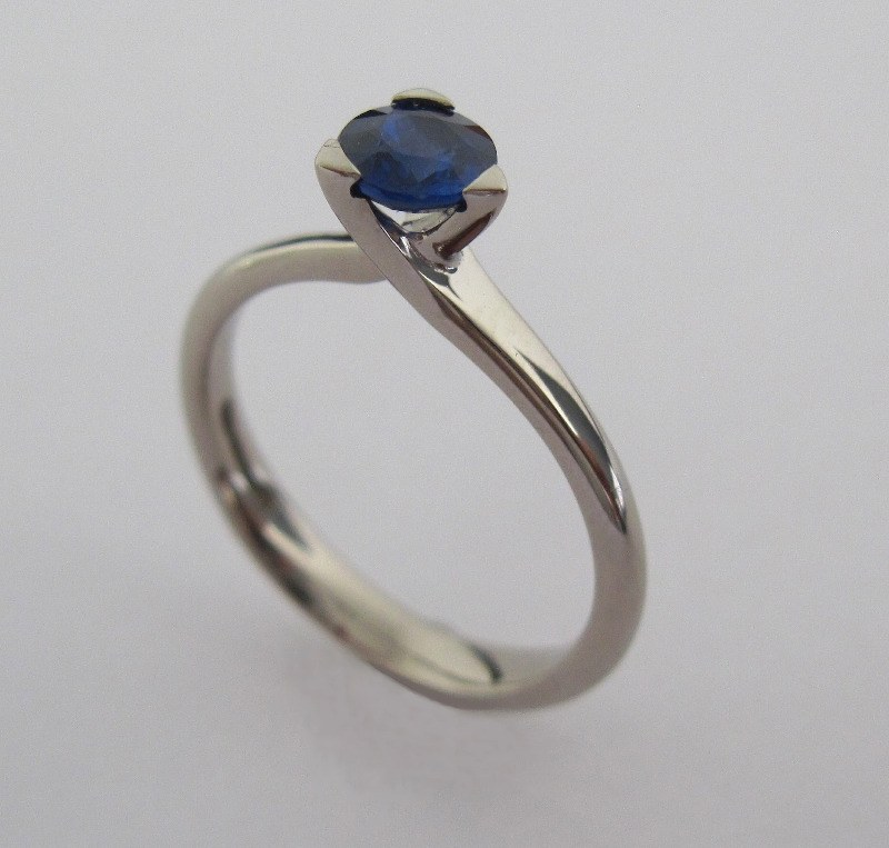 Solitaire Sapphire Ring
