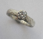 Platinum and Diamond Organic Solitaire Ring