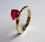 Ruby and 18ct Yellow Gold Solitaire Ring