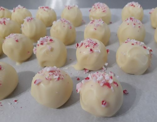 Mint Truffles with White Chocolate