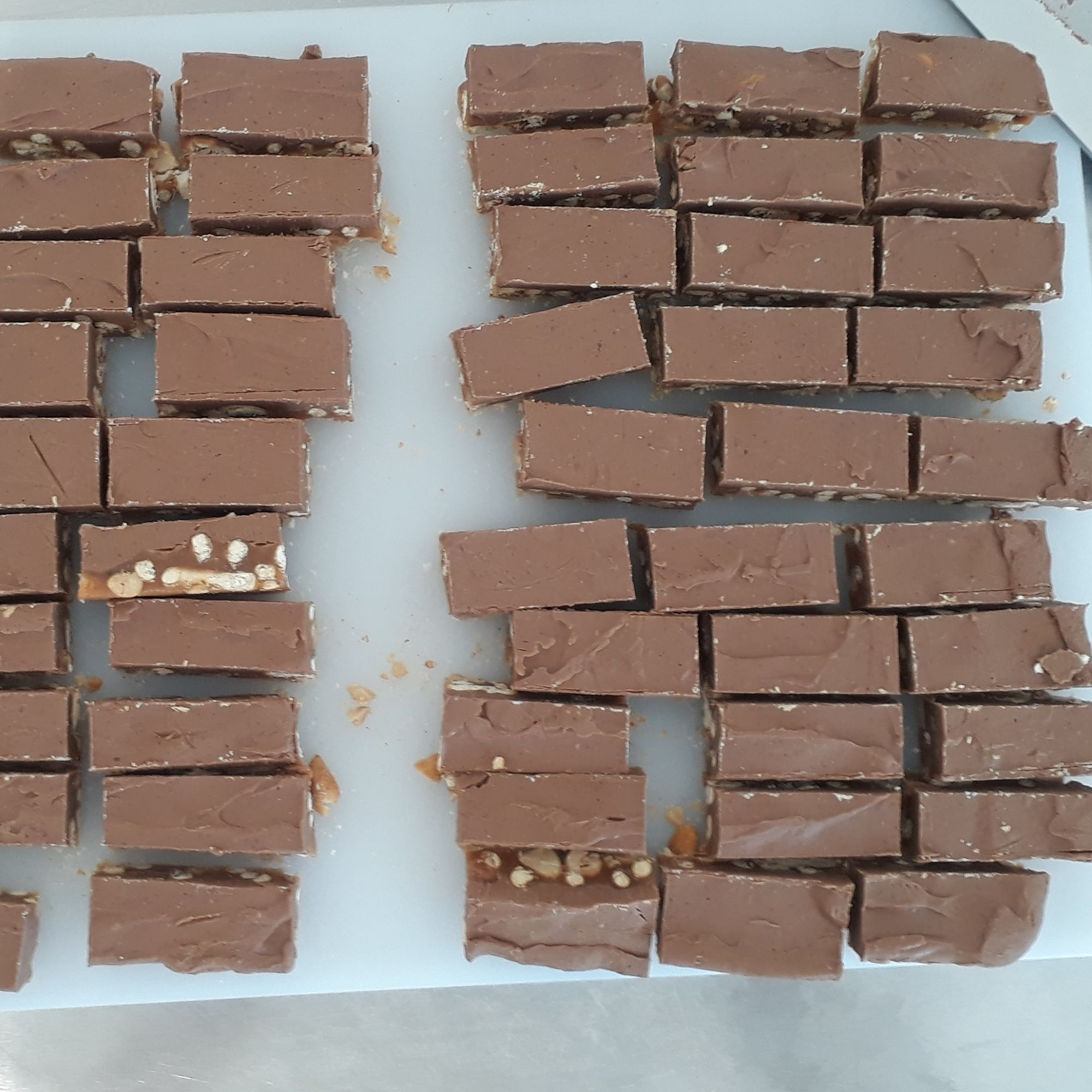 Chocolate bars in progress