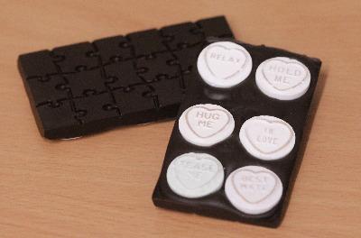 Naughty Dark Chocolate Bar with Love Hearts&copy