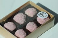 Gift Box of 12 Handmade Liqueur Amaretto, Raspberrycello and Morello Cherry Truffles