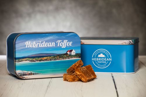 Hebridean Toffee 400g Gift Tin WORLDWIDE delivery included