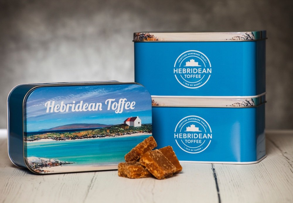 Hebridean Toffee 400g Gift Tin Europe delivery included