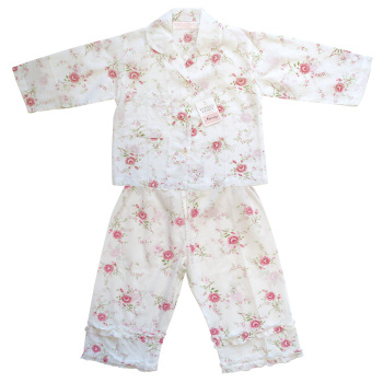 Girls Vintage Rose Floral Pyjamas - Rosie