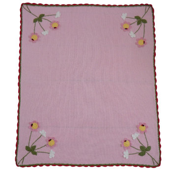 Enchanted Forest Knitted Pram Blanket