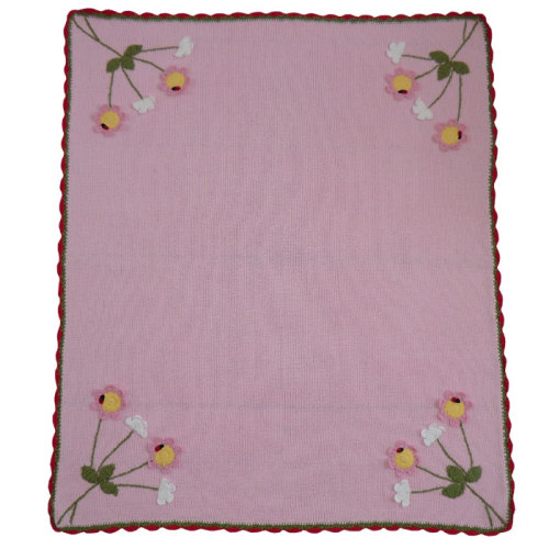 Enchanted Forest Knitted Pram Blanket
