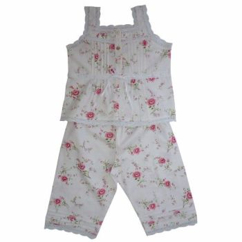 NEW Product - Rose Floral Sleeveless Summer Pyjamas
