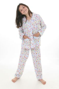 NEW - Ditsy Floral Traditional Style Girls Pyjamas
