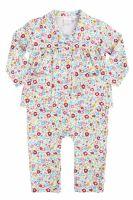 Baby Girls Mock Pyjamas - Spring Floral - LAST 2 in size 3-6 months
