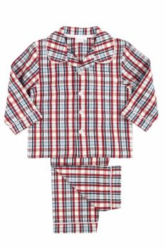 NEW - Traditional Red Check Brushed Cotton Pyjamas