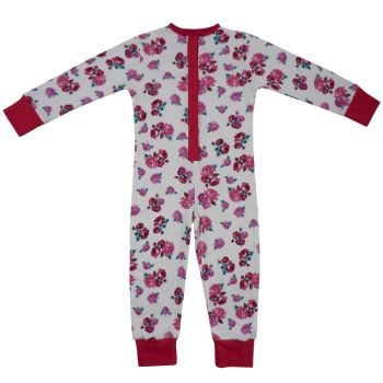 LAST ONE LEFT - AGE 2-3 - Girls Vintage Red Rose Floral Onesie