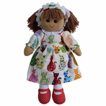 NEW - Cat Print Dress Rag Doll