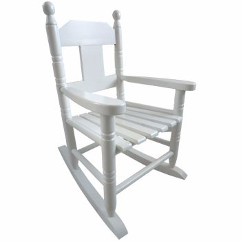 NEW - White Childs Wooden Rocking Chair