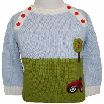 NEW - Farmyard Knitted Cotton Jumper