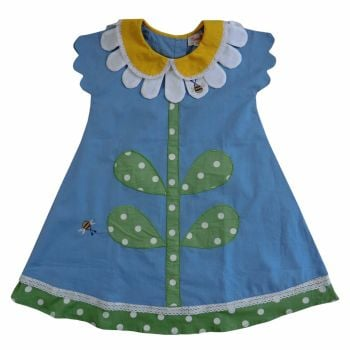 Girls Daisy Collar Dress