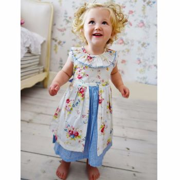 Girls Floral Sleeveless Pinafore Dress