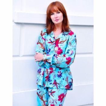 NEW 2017 - Ladies Turquoise Bird Cotton Pyjamas