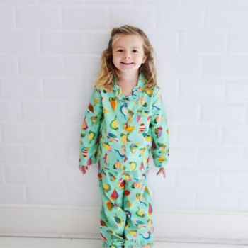 Girls Cotton Pyjamas - Birds of Paradise -NEW for 2017 from Powell Craft