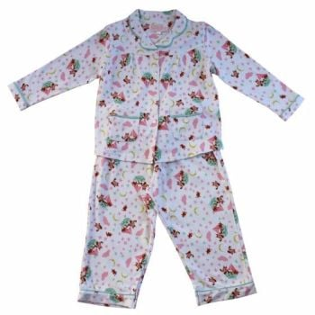 NEW 2017 - Girls Soft Jersey Cotton, Owl and Pussycat Pyjamas from Powell Craft