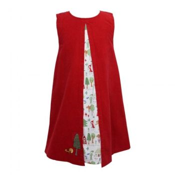 Girls Red Riding Hood A Line Cord Dress