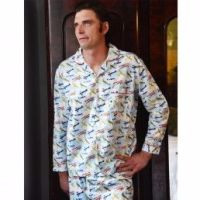 Mens Vintage Plane Pyjamas - Bader