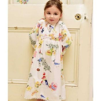 Girls Cotton Nightdress - Secret Garden - Olive