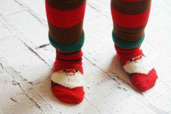 Santa Fluffy Baby Socks