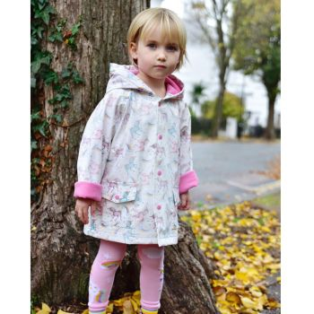 Unicorn Print Raincoat