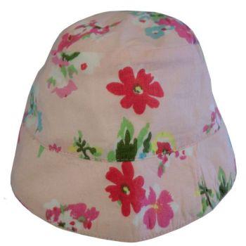 Pink Floral Sun Hat