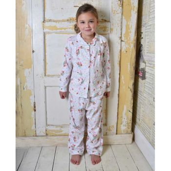 Girls Soft Jersey Cotton, Owl and Pussycat Pyjamas from Powell Craft