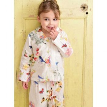 Girls Cotton Pyjamas Secret Garden design - Ada