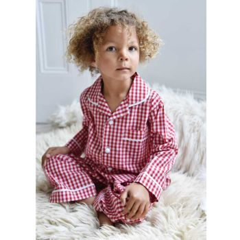Charlie Red & White Gingham Traditional Pyjamas