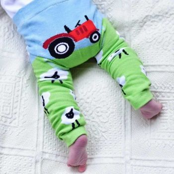 Farm tractor baby leggings