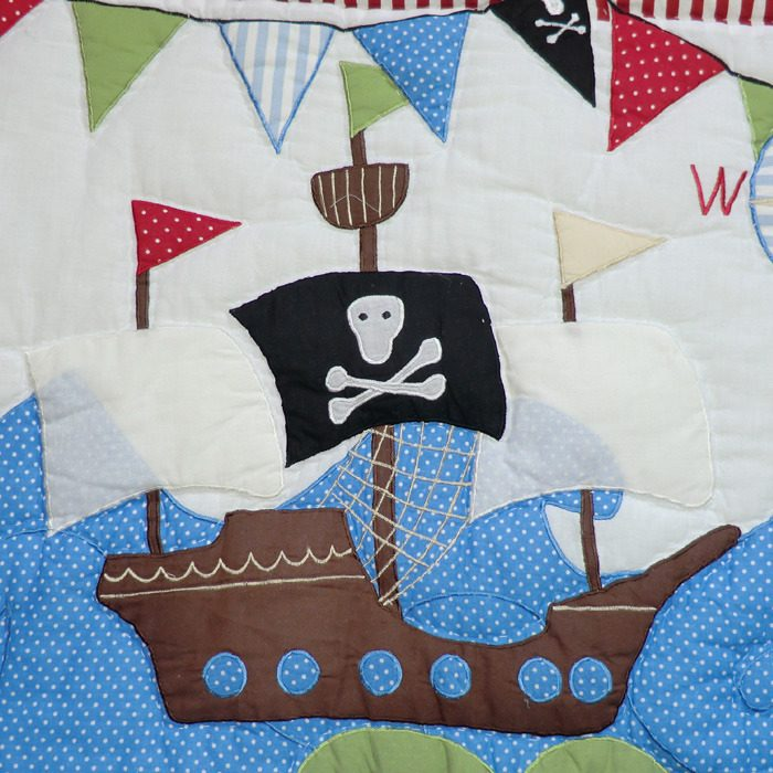 Pirate Cot Quilt Bedding For Baby Boy Pirates Powell
