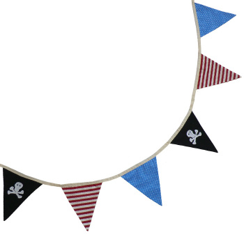 Pirate Bunting - cotton
