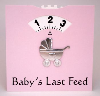 Pink Baby Feeding Wheel Card