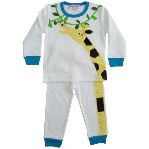 Jungle Pyjamas with Giraffe Applique - Powell Craft