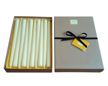 beeswax taper candles