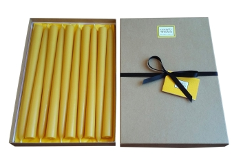 beeswax taper candles uk