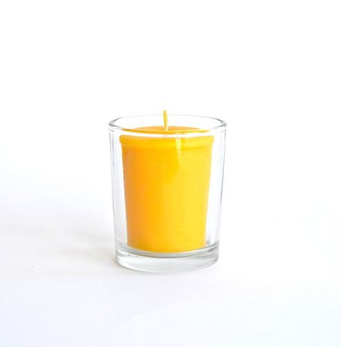 Beeswax votive candle