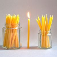 Beeswax birthday cake candles