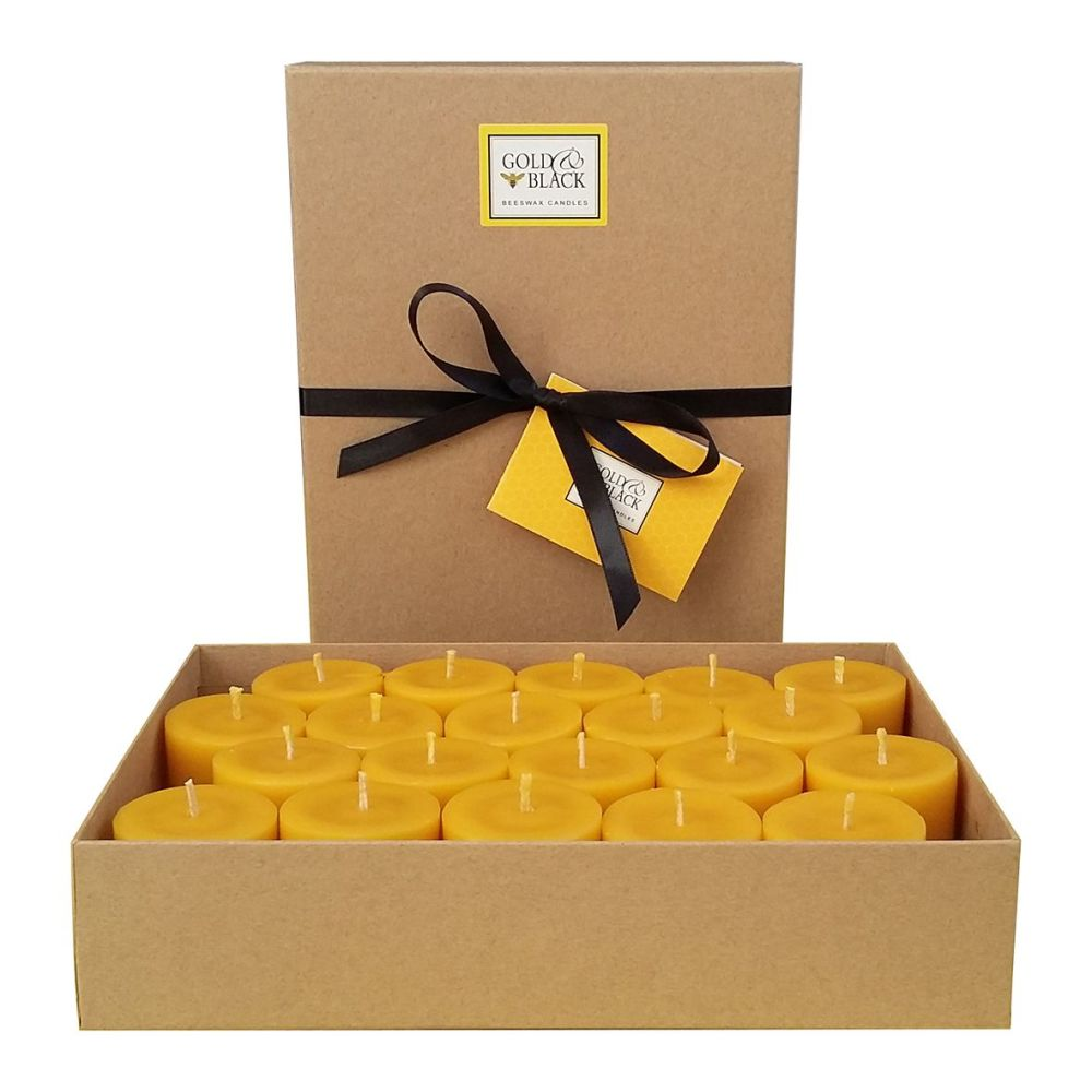 Beeswax votive candle refills